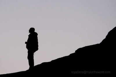 Silhouettes (of People enjoying Dartmoor and Lyme Regis)